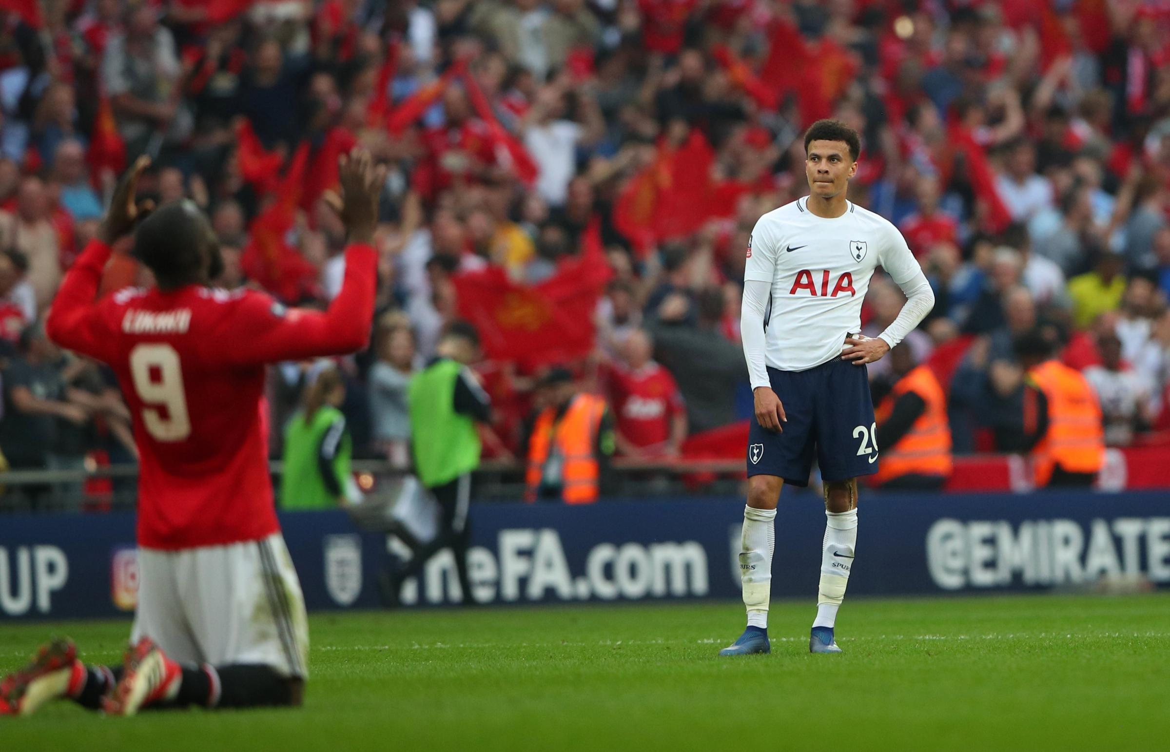 Dele Alli's strike wasn't enough for Spurs as they lost 2-1 at Wembley. Picture: Action Images