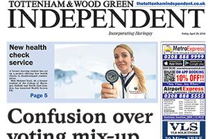 Read the e-edition of this week's Tottenham & Wood Green Independent and access our online archive
