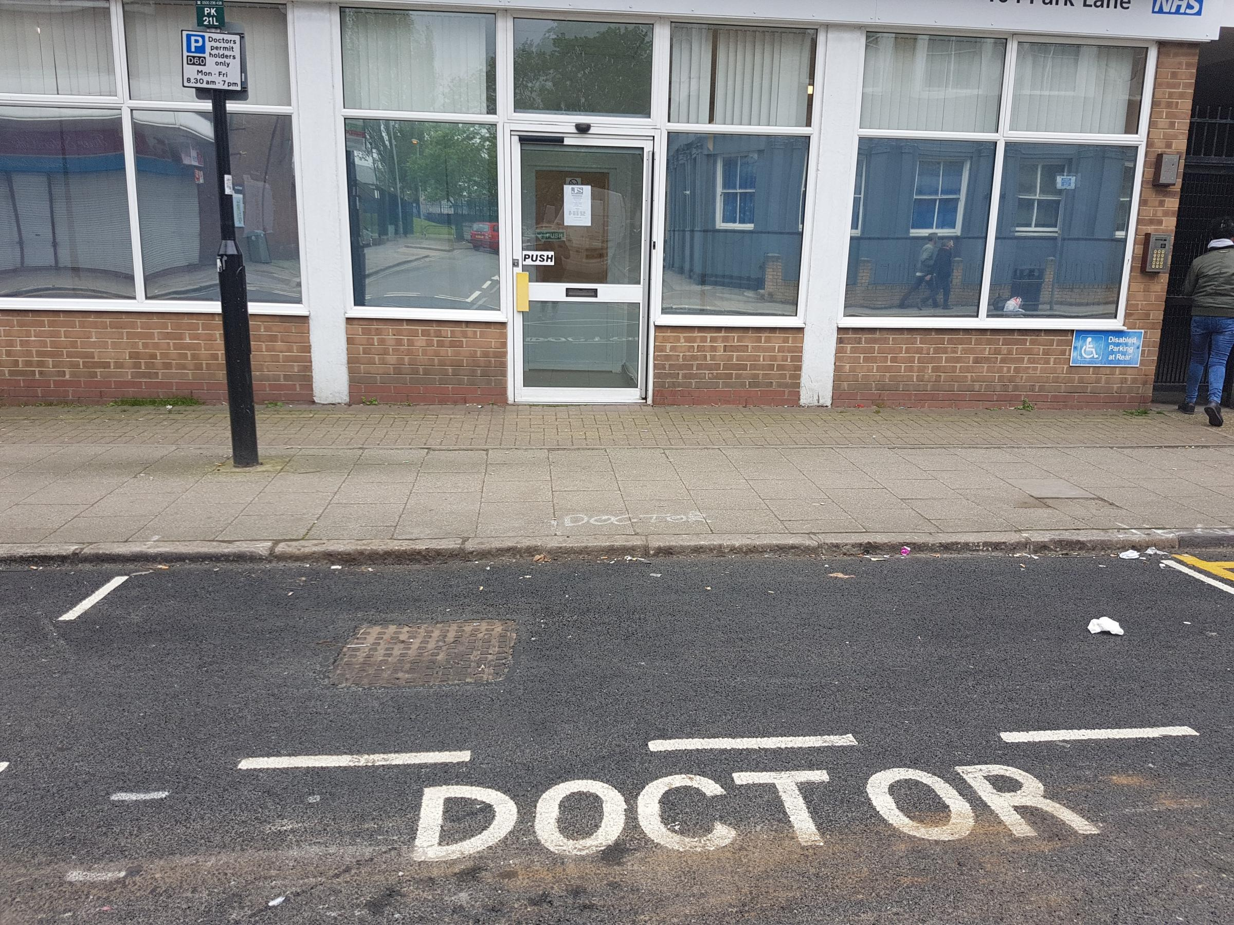The doctors' bay on Park Lane