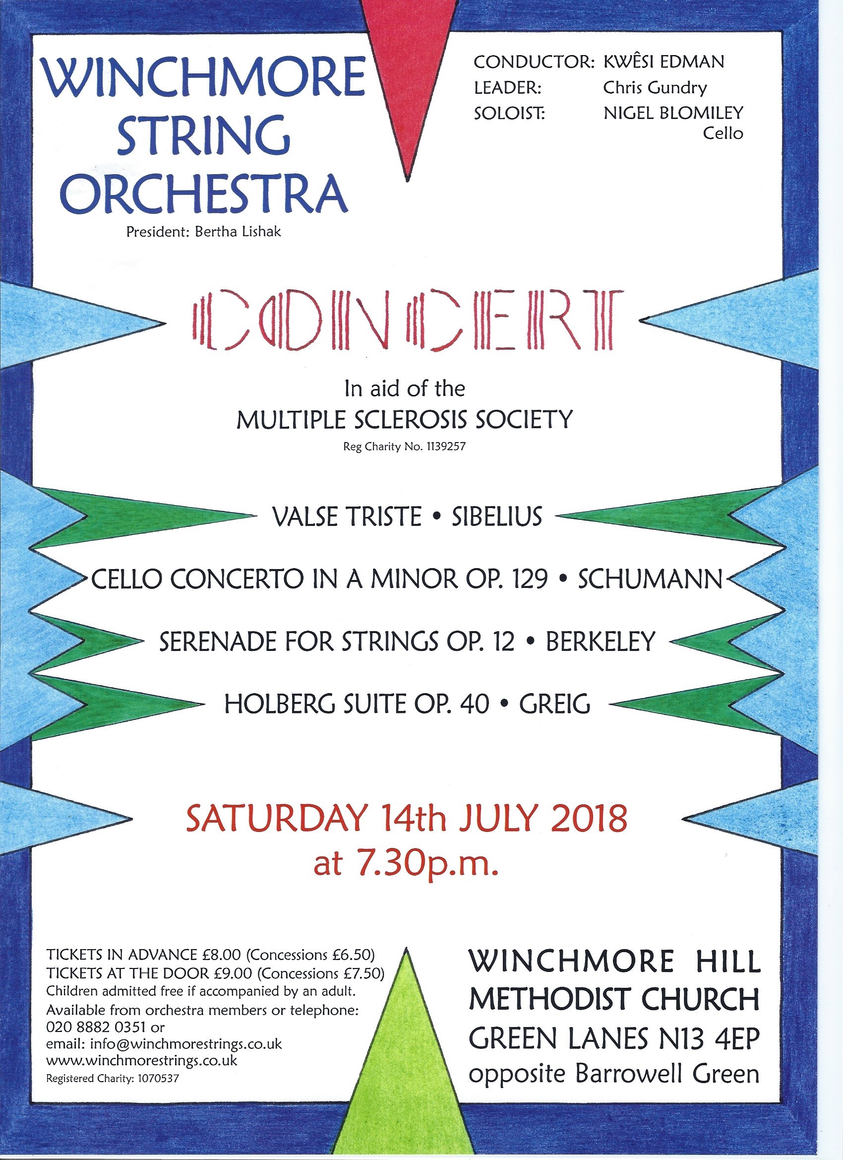 Winchmore String Orchestra Concert in aid of Multiple Sclerosis Society