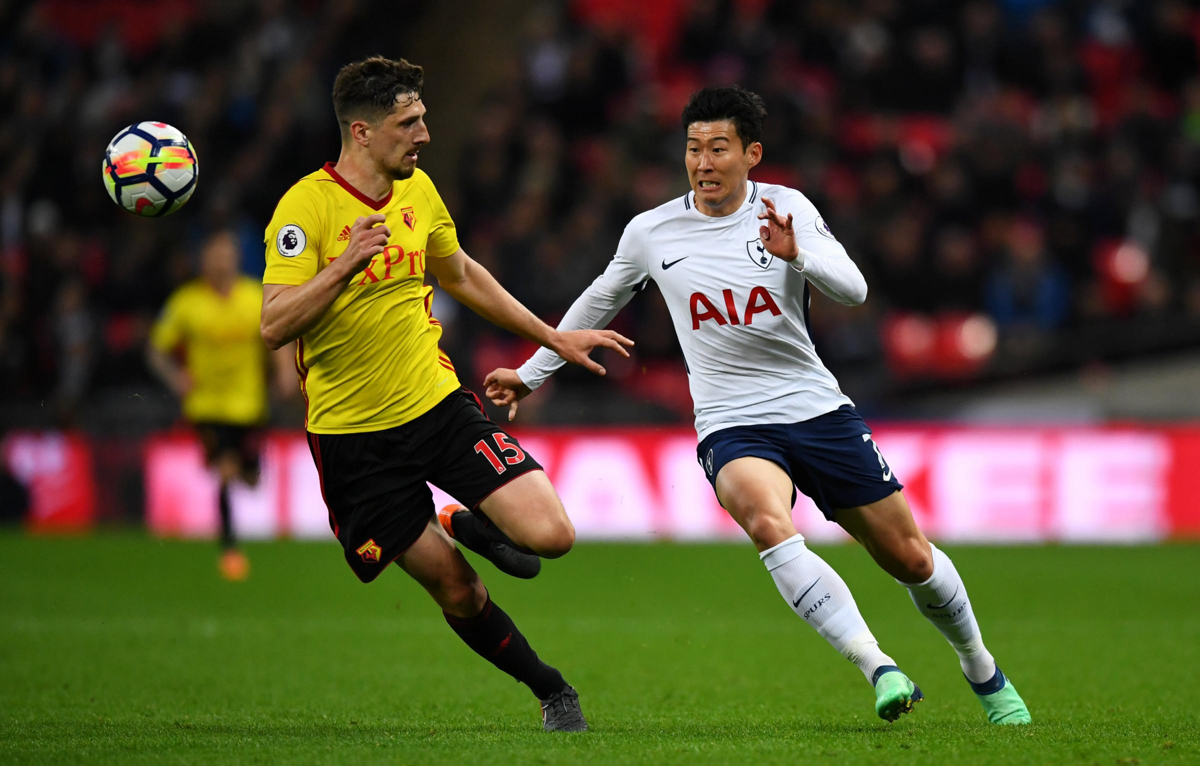 Spurs are hopeful Son Heung-min will be ready to face Watford on Wednesday. Picture: Action Images