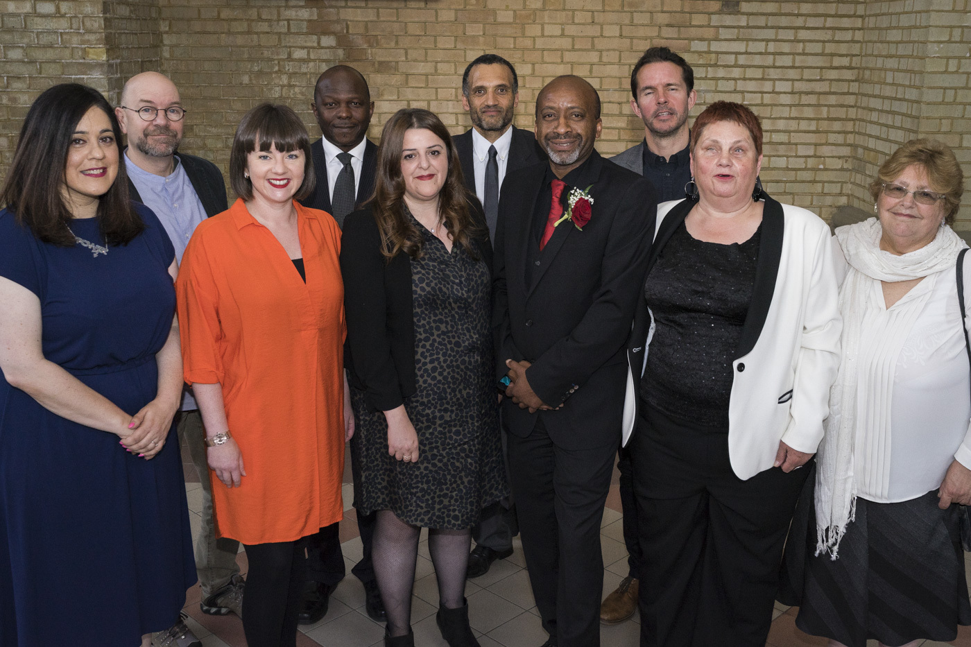 New leader Cllr Ejiofor (fourth from right) with his cabinet