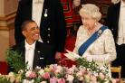 The Queen and US president Barack Obama during a state banquet
