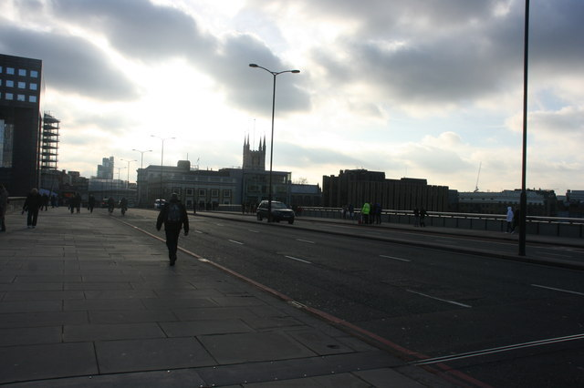 London Bridge on a gray morning