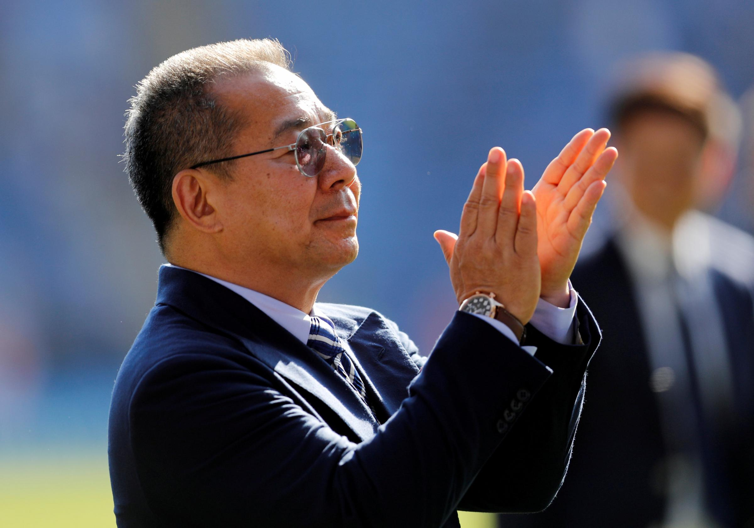 Vichai Srivaddhanaprabha tragically lost dies in a helicopter crash on Saturday. Picture: Action Images
