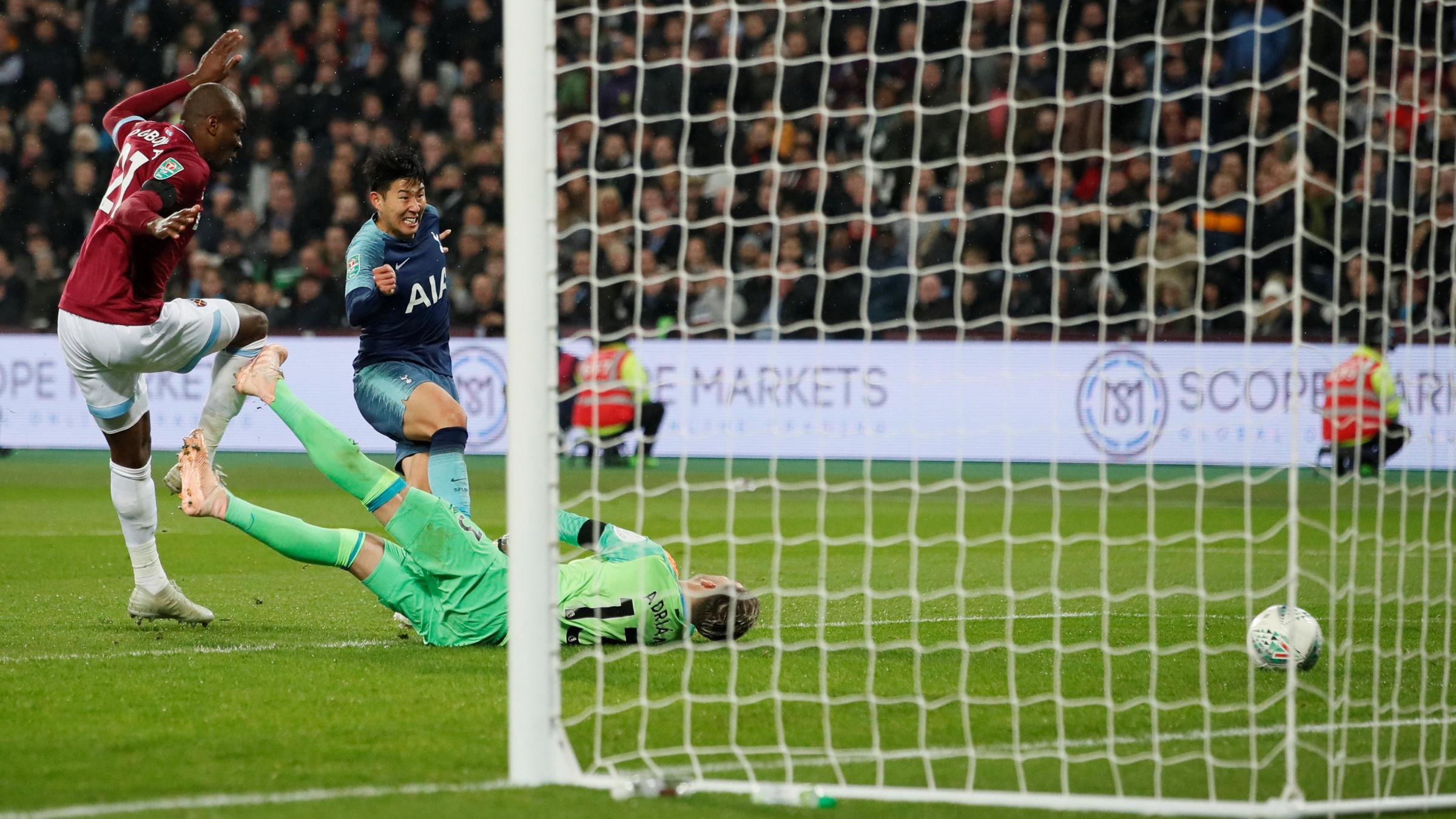 Son Heung-min doubles his tally last night. Picture: Action Images