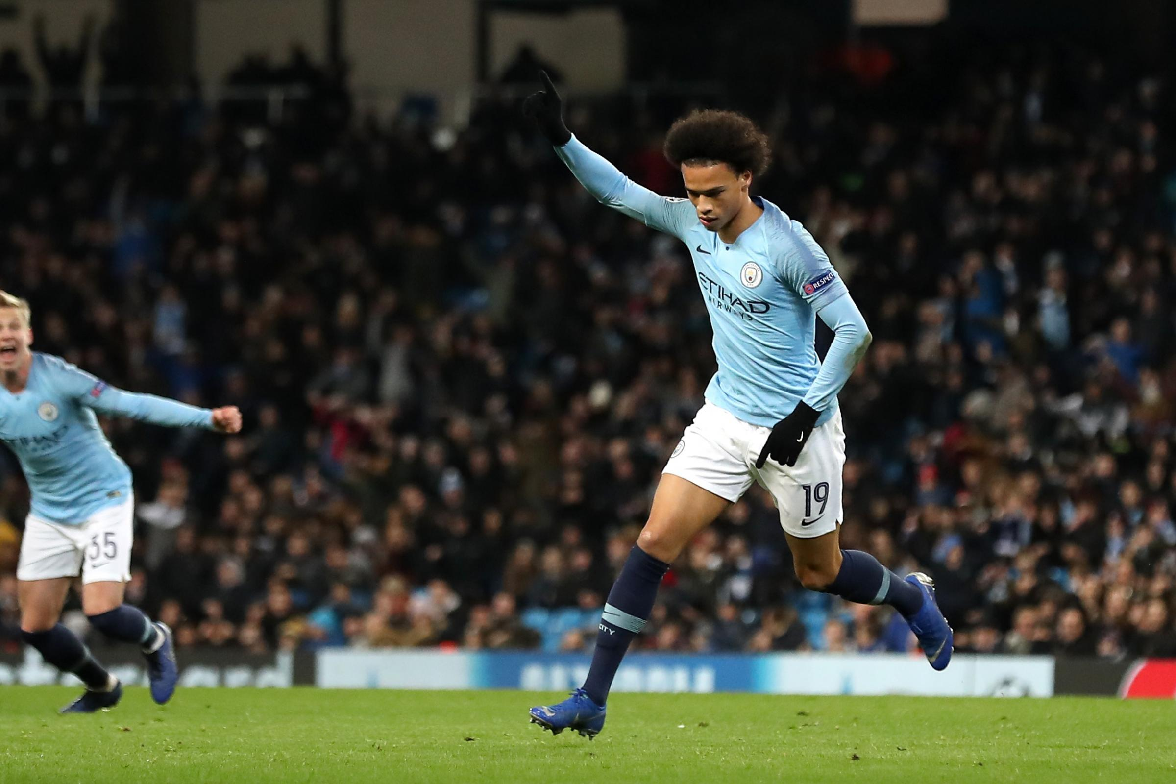 Leroy Sane scored twice as Manchester City beat Hoffenheim