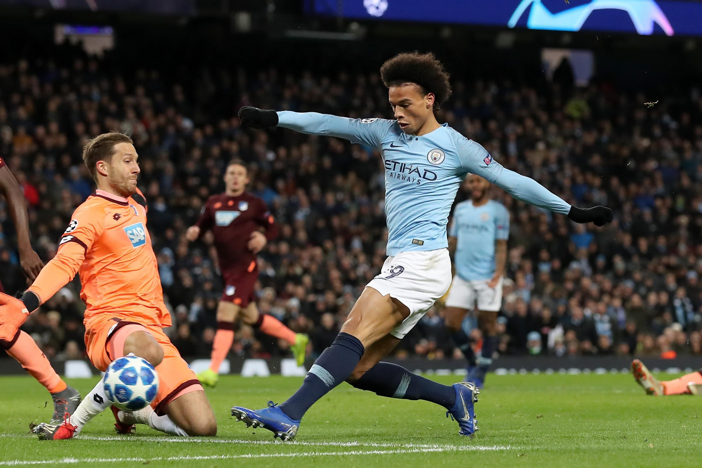 Leroy Sane's double against Hoffenheim ensured Manchester City won their Champions League group