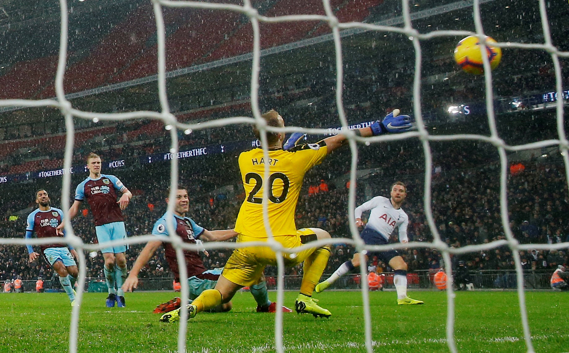 Christian Eriksen scores Spurs' late winner. Picture: Action Images
