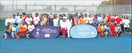 The Godwin Lawson Foundation football tournament at Frederick Knight Sports Ground