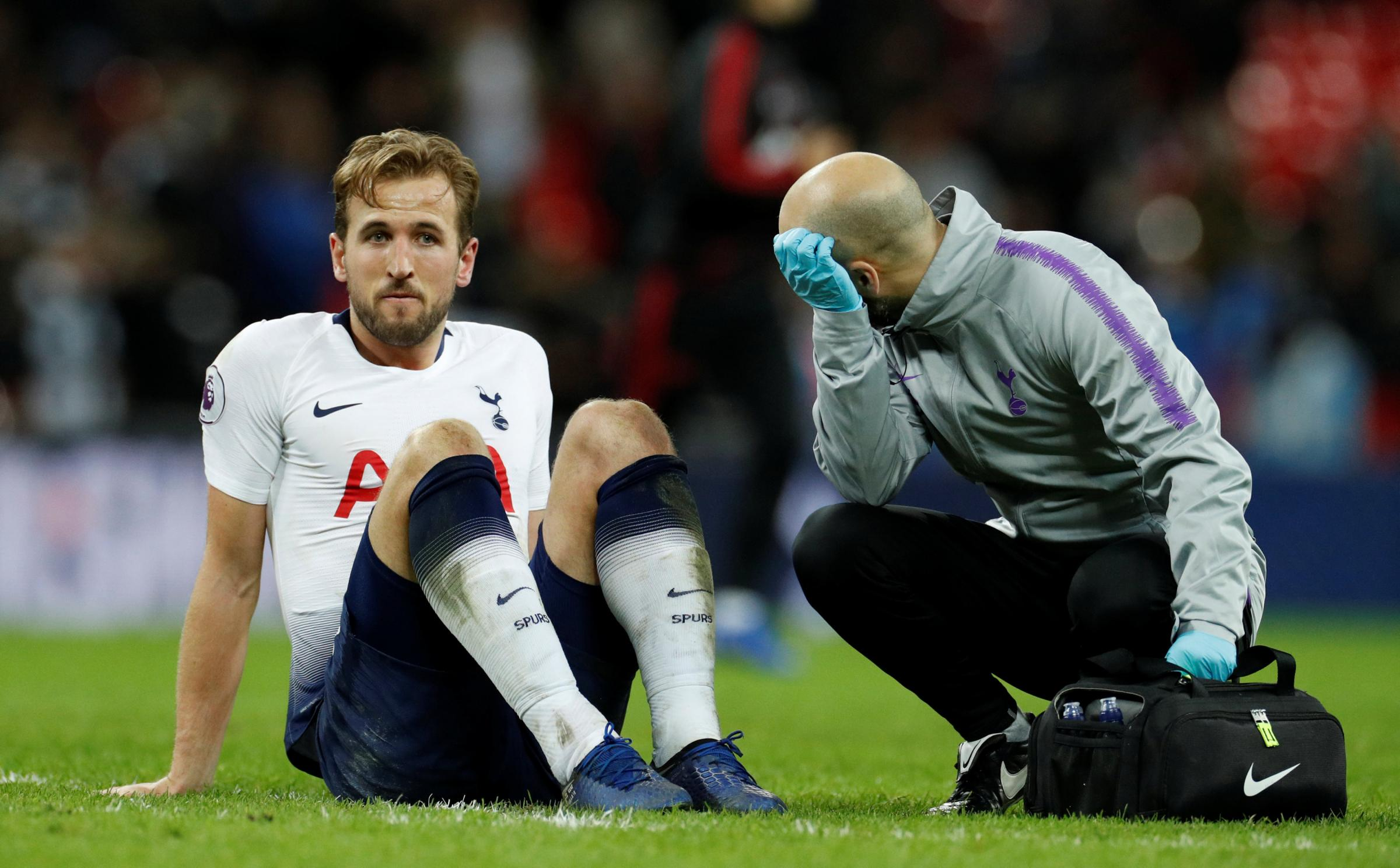 Harry Kane sustained the injury in Sunday's defeat to Manchester United. Picture: Action Images