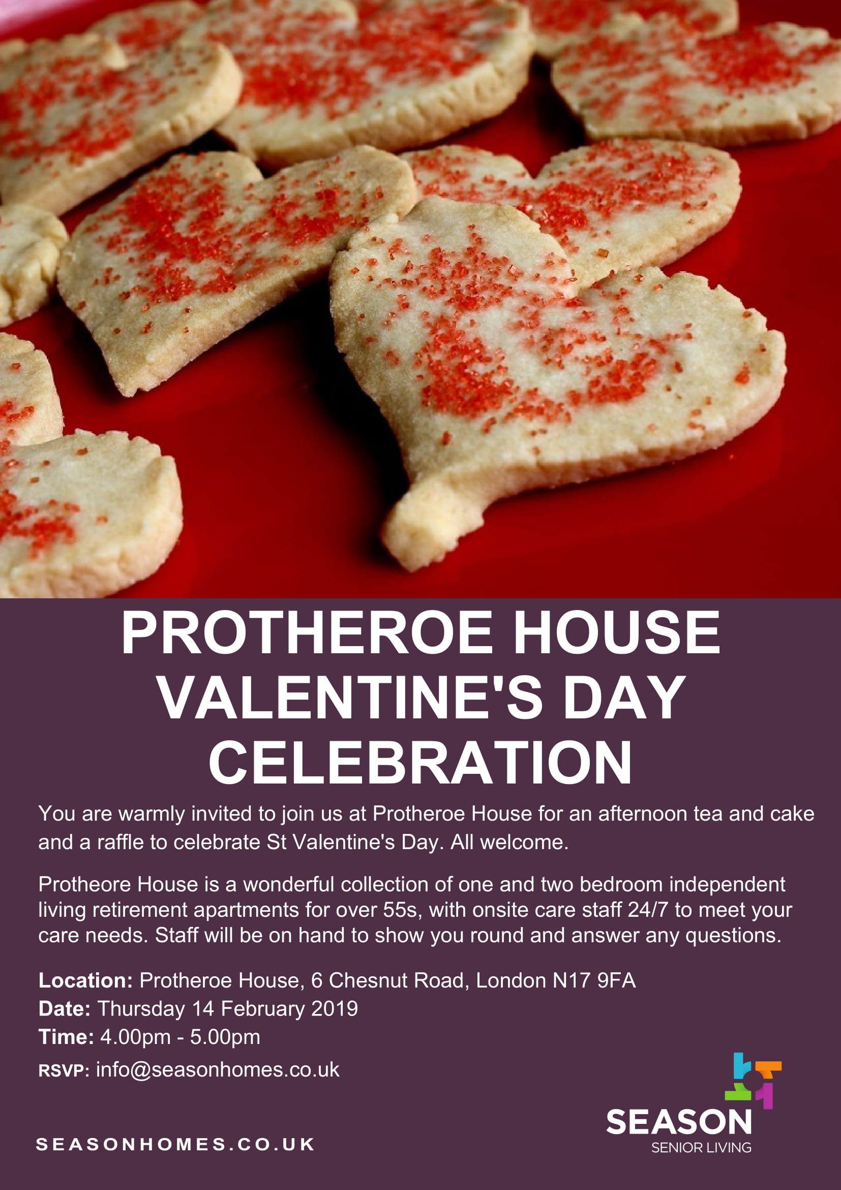 Protheroe House - Valentine's Day celebration