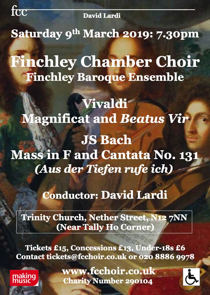 Bach and Vivaldi with Finchley Chamber Choir