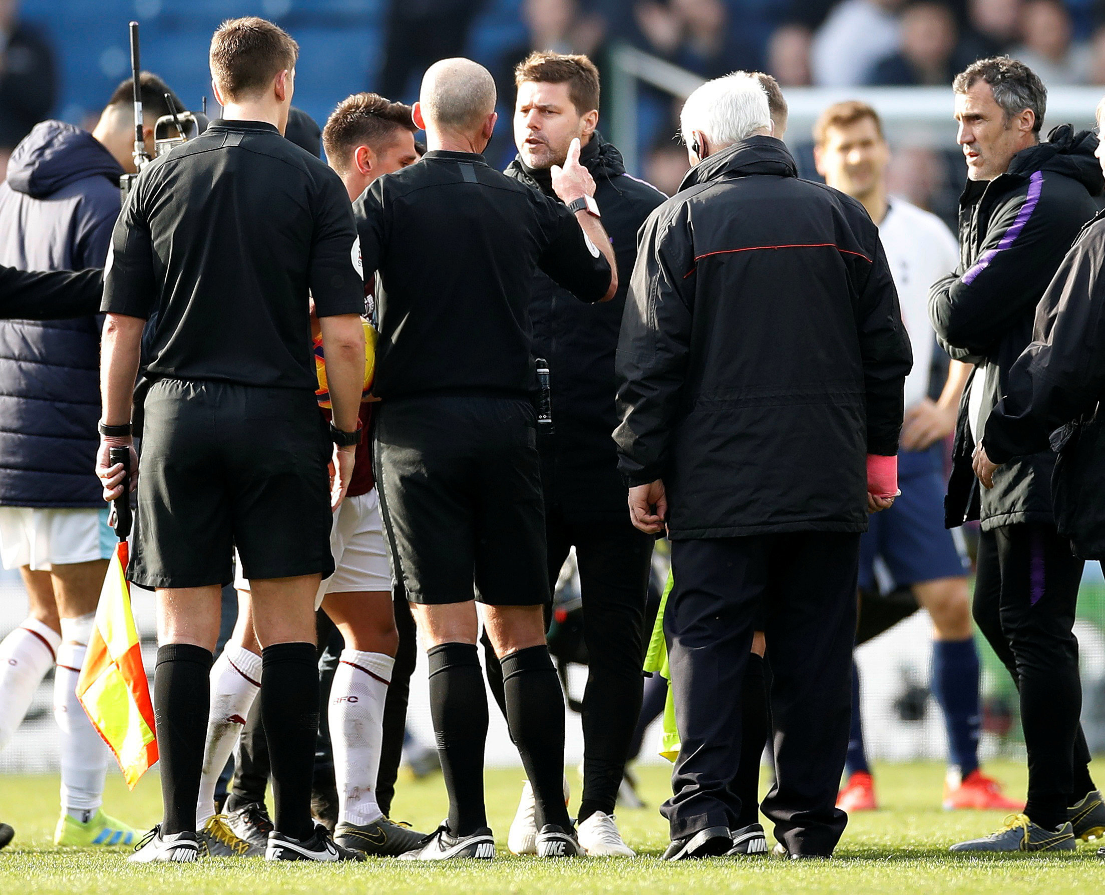 Mauricio Pochettino has been charged following his clash with Mike Dean. Picture: Action Images