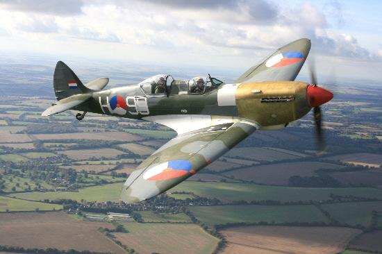 A Spitfire is due to be joined in a flypast by a Hurricane on Sunday