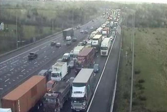 Travel news: Tanker and van collision causes serious tailbacks on M25