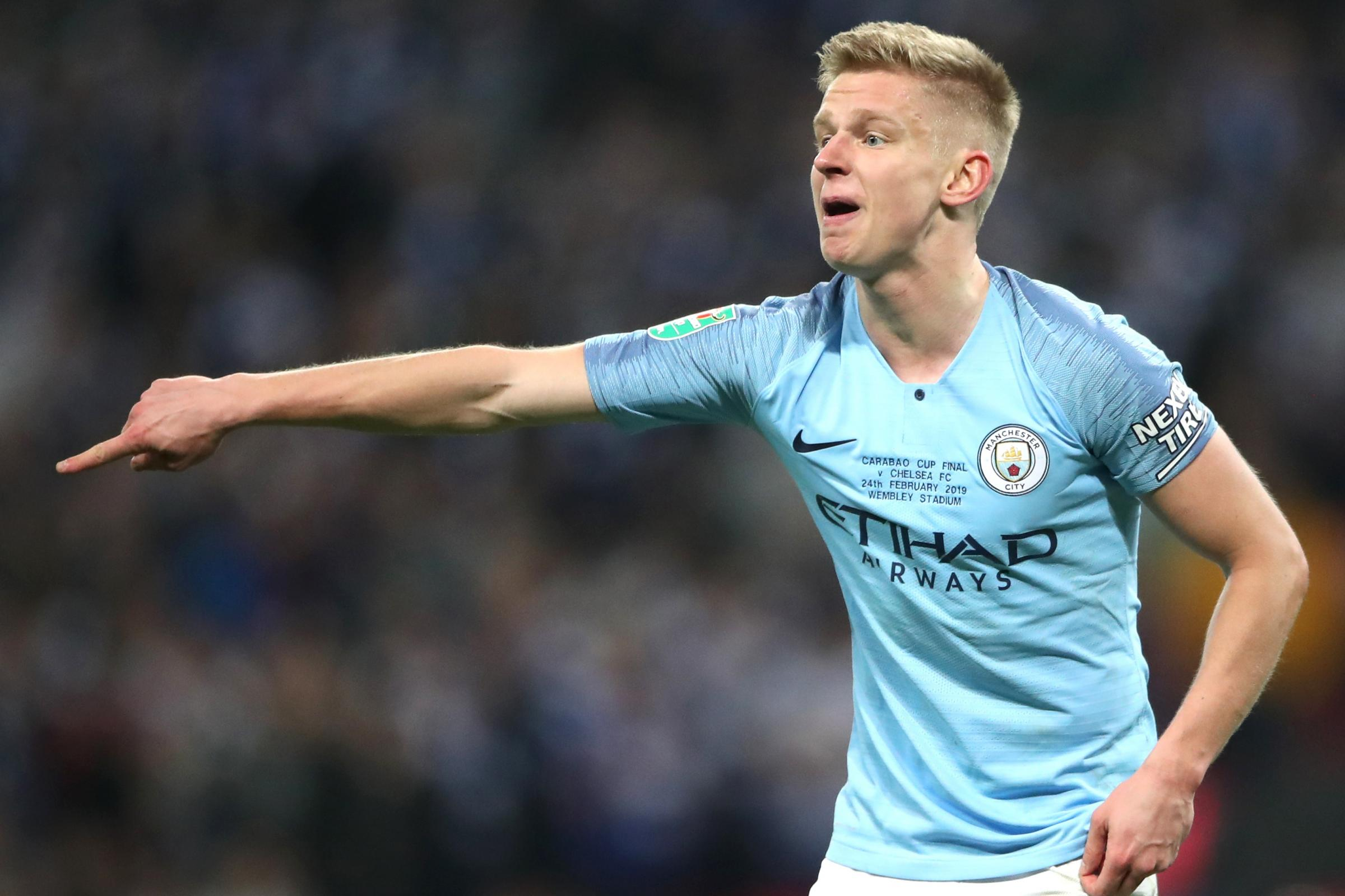 Manchester City's Oleksandr Zinchenko is targeting Wembley glory